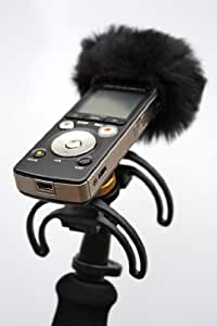 Portable recorder suspension and audio kit for Zoom H1N. Suspension, handle, hotshoe adaptor and mini windjammer. Recorder and cameras not inc!!!