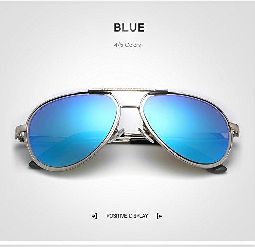 06a2a12e346d Songlin yuan Retro New Pilot Sunglass Men Espejo polarizado Gafas de Sol  espejadas Gafas