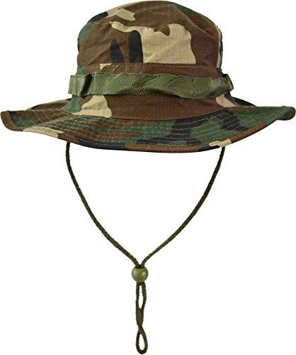 normani Australian Outdoor Hut Boonie Hat in vielen Farben und Grössen Farbe Woodland Größe S