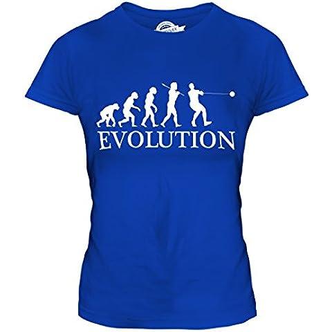 CandyMix Lancio Del Martello Evoluzione Umana T-Shirt da Donna Maglietta