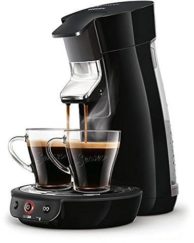 Senseo Viva Café Kaffeepadmaschine freistehend Automatische Kaffeemaschine mit Kapseln 0.9L 6Tassen Schwarz