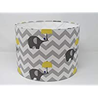 Handmade Grey and Yellow Umbrella Elephant Zig Zag Chevron Lampshade Ceiling Light Shade Choice of Colours