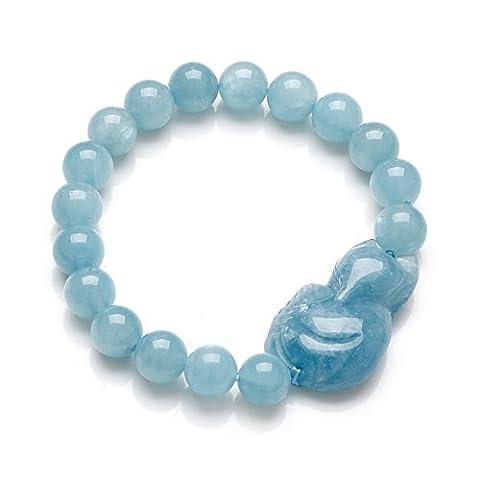 natürlicher Aquamarin Kristall Armband/Baby Blue handgemachten Schmuckstein/[Armbänder]-A (Natürliche Aquamarine Kristall)