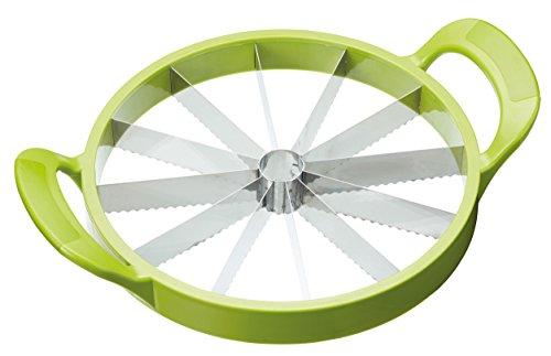 Kitchencraft mangiare sano affetta melone e anguria affettatrice, verde, 23.5cm