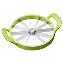 KitchenCraft Healthy Eating Melon Slicer and Water Melon Slicer, Green, 23.5 cm