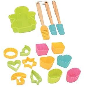 kit de patisserie pour enfant avec 16 accessoires cuisine maison. Black Bedroom Furniture Sets. Home Design Ideas