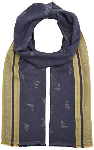 Armani Jeans Herren Schal, Mehrfarbig (Blue Navy/Giallo 10235), One Size (Für Armani Schal Von Herren)