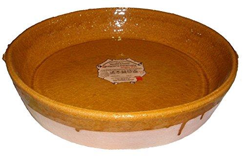 Alfarería Pereruela Siglo XVI APPLL22 - Paellera de barro refractario auténtico, 22 cm