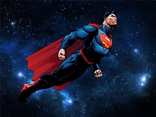 LYSBHX Selbstklebende Tapete Wandbild (B) 350X (H) 256Cm Wandbilder Superman Fototapete Galaxy Held Wandbild Kunst Raumdekoration Sofa Hintergrund Wand (Superman Wand-kunst)