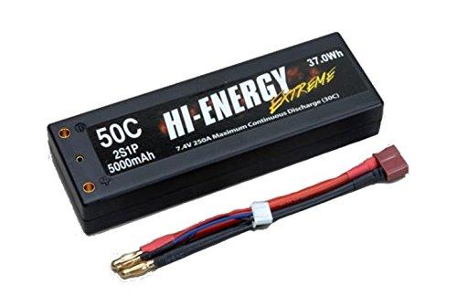 Ripmax hi-energy Extreme 7,4V 2S 5000mAh 50C Auto Li-Po Rect Case Akku Stick Pack -