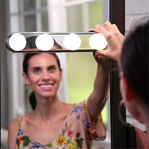 EisEyen Hollywood-Stil LED Spiegelleuchte Schminklicht Spiegellampe Schminkleuchte Make-up Licht Schmink Lampe Schminktisch Leuchte Spiegellicht Set für Kosmetikspiegel Schminkspiegel -