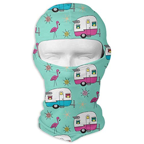 Xukmefat Printed Duct Tape Happy Camper Balaclava UV Protection Windproof Ski Face Masks for Cycling Outdoor Sports Full Face Mask Breathable (Duct Bow Tape)