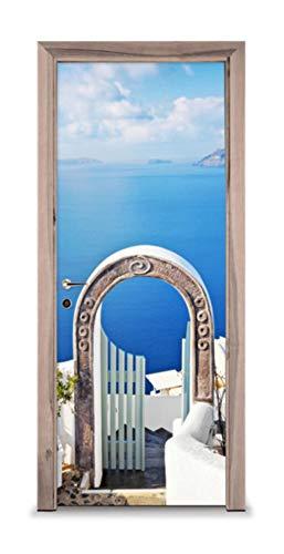 XXXCH 3D Griechischen Bogen 77X200 Cm Tür Aufkleber Tür Aufkleber Dekorative Tür Mural Abnehmbare Vinyltür Wand Tapete Dekoration Tapete