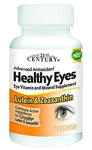 21st Century Health Care, Gesunde Augen, Lutein und Zeaxanthin, 60 Kapseln