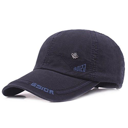 Navy Vintage Cap (Kuyou Vintage Cotton Basecap Snapback Caps Outdoor Baseball Kappe Mütze (Navy))
