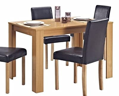 Wooden Dining TABLE ONLY Oak Effect Finish Table 4 Seater - inexpensive UK light shop.