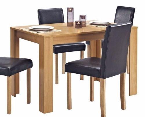 Küche Holz-finish Stuhl (Esstisch aus Holz nur Eiche Effekt Finish Tisch 4-Sitzer)