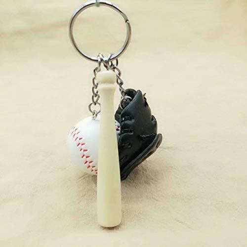 Baseball Keychain Frauen-Schlüsselring-Handtaschen-Anhänger-reizend Beutel-Kettenbeutel-Schmucksache-Leichtgewichtler-Beutel Accessories-Black-1 Größe