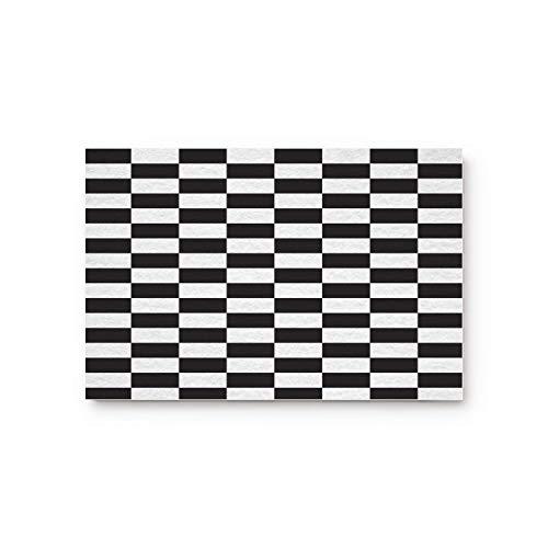 Schwarz Weiß Classic Lattice Square Checkerboard Home Badezimmer Bad Dusche Schlafzimmer Matte WC Boden Fußmatte Teppich Teppich Pad Fußmatte