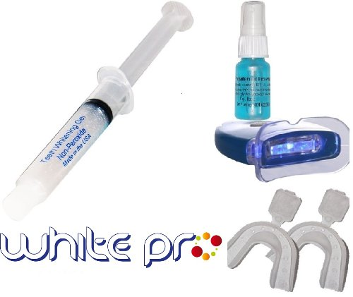 *White pro*LED LIGHT+ Zahnweiß-Gel SETS- home bleaching weis- MADE IN USA-*SPEZIEL FORMEL White Pro*