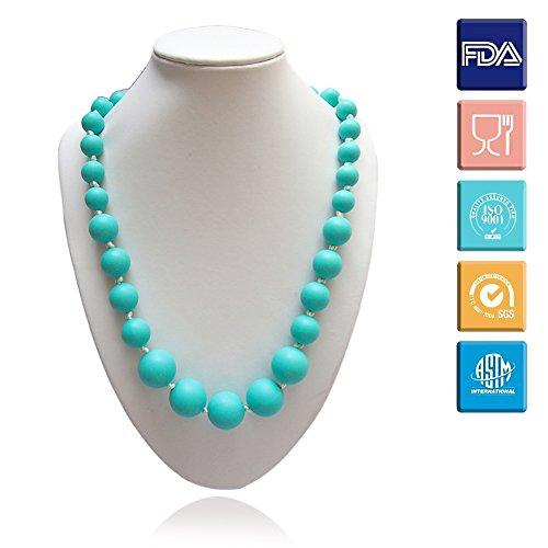 Silikon Baby Zahnen Halskette Lebensmittelqualität BPA-freie organische natürliche Beißring kauen Halskette kaigeli888®