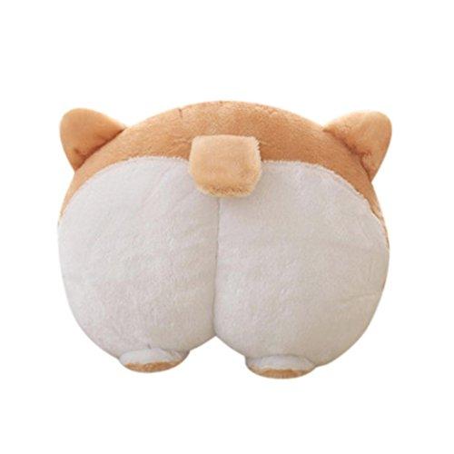 Longra Cuscino caldo per le mani di Corgi Caldo e cotone Super Cute Lovely Corgi Butt Hands Warm Pillow Corgi Butt Pillow (420)