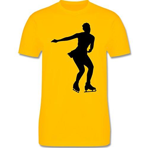 Wintersport - Eiskunstläuferin - Herren Premium T-Shirt Gelb