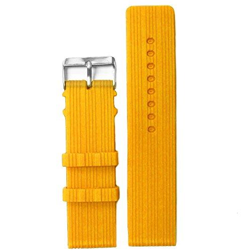 Alexis 24mm mango gelb Silikon Jelly Gummi Damen-Armbanduhr Band Riemen wb1071C24jb + Spring Bar Werkzeug zum Entfernen (Manga Band)