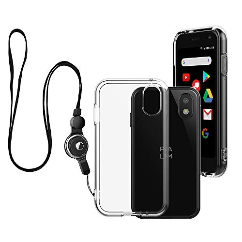 Foluu Palm Case, Palm Phone Case 2018 Transparent, Kratzfest TPU Gummi Soft Skin Silikon Schutzhülle Cover mit Lanyard für Verizon Palm Smartphone PVG100 (Pepito) 2018 (Crystal Clear) (Palm De)