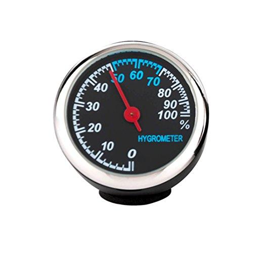 winomo Horloge électronique de voiture de pointeur de LEUCHTENDE Horloge mécanique avec noyau en acier (Hygromètre)