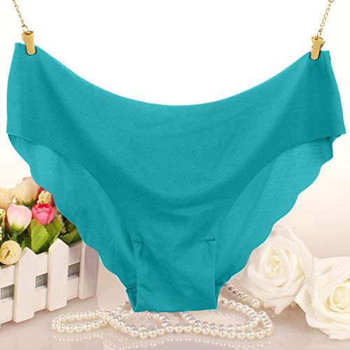 Fenverk Unterhosen Damen Panties Slips Mittlere Taille Atmungsaktive Taillenslip Soft Hipster Mit Spitze Bikinislips EinheitsgrÖsse(Grün,XL) - 4