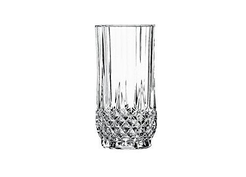 Cristal D'Arques Longchamp - Vaso alto de vidrio 360 ml, sin la marca