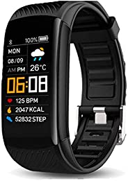 YUNSYE High-End Fitness Trackers HR, IP68 Waterproof Activity Tracker with Heart Rate Monitor Watch, Step Coun