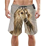 Photo de ZKHTO Afghan Hound Dog Hairy Mens Summer Swim Trunks 3D Graphic Quick Dry Funny Beach Board Shorts with Mesh Lining par ZKHTO