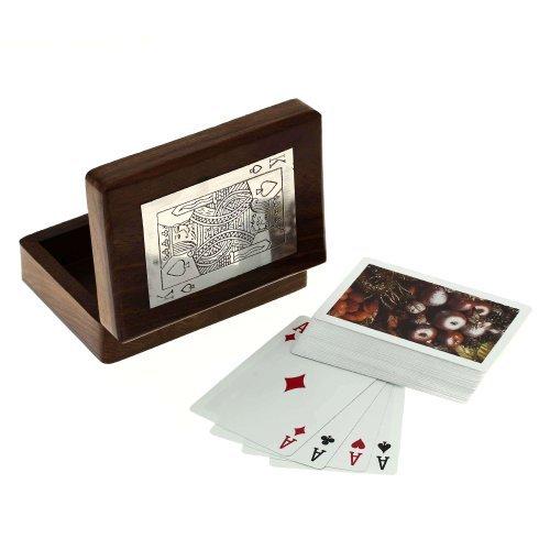Preisvergleich Produktbild Handarbeit Aus Holz Aufbewahrungsbox Für Spielkarten - Einzigartige Geschenke Für Jeden Anlass