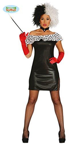 Dalmatiner Lady Minikleid Kostüm für Damen Gr. S - L, Größe:L (Dalmatiner Kostüm Für Damen)