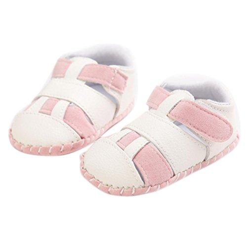 Culater® Ragazze del bambino Ragazzi pattini della greppia splicing morbida suola antiscivolo sandali del bambino Sneakers (12, Rosa caldo)