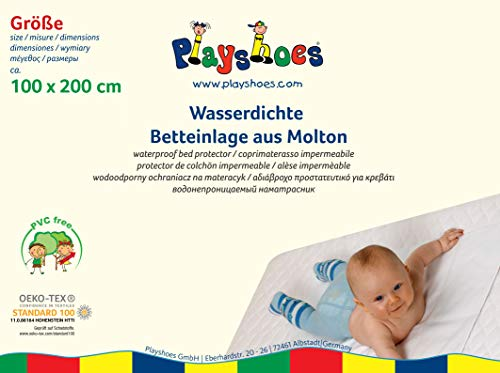 Playshoes 770216 Molton Betteinlage wasserdicht und atmungsaktiv, Oeko-Tex Standard 100, 100 x 200 cm