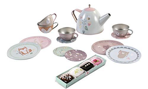 Little Dutch Teeset Teeservice Haba Petits Fours, 4er Set Puppengeschirr Spielgeschirr Geschenkset