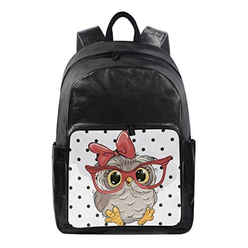 Lustiger Rucksack mit süßem Tier-Vogel-Eule Schultertasche Wandern Camping Daypack Schule Reise Computer Tasche für Kinder Jungen Mädchen Männer Frauen (Halloween Taschen Reflektierende)