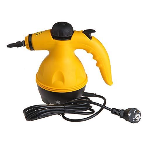 Vinteky Portable Cleaner Elektrischer Dampfreiniger Reinigungsmaschine Handheld Steamer Cleaner mit 9 Zubehörteilen Ideal für Badezimmer, Matratzen, Teppiche und Kitchen