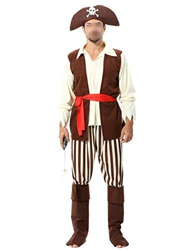 THEE Damen Herren Piraten Kostüm Halloween Cosplay