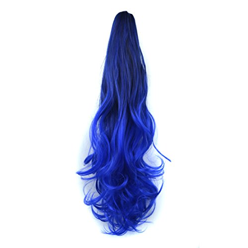 45,7 cm 120 g New Fashion Deux Tons perruque extension de cheveux bouclés Queue de cheval pour Femme Ombre avec pointes couleur enveloppant queue de cheval ondulée pour Pretty Girls