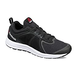 Reebok Mens Zone Cushrun 2.0 Coal, Black and White Running Shoes - 10 UK/India (44.5 EU)(11 US)