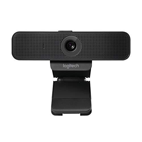 Logitech C925e Webcam Pro Logitech, Full HD, USB con Microfoni Omnidirezionali, Nero