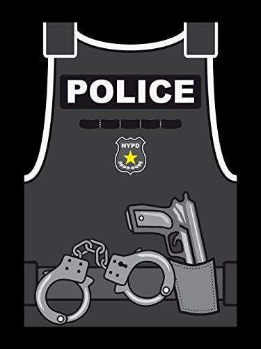 clothinx Herren T-Shirt Karneval Police Schwarz