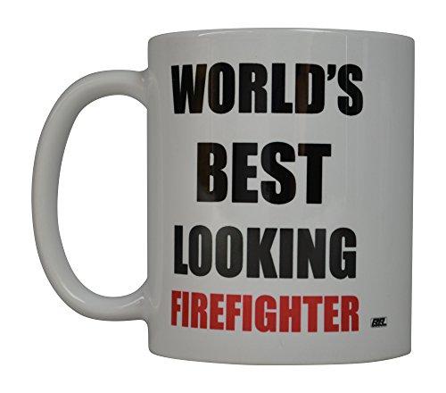 Rogue River Funny Kaffee Becher World 's Best aussehende Feuerwehrmann Neuheit Tasse Tolles Geschenk Idee für Fire Fighter FD Fire Department (Best aussehende)