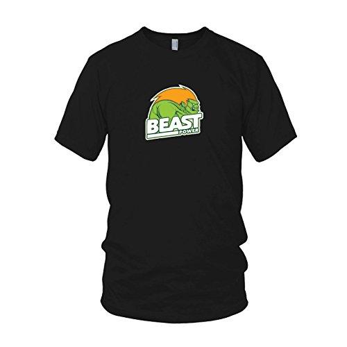 Beast Power - Herren T-Shirt, Größe: XXL, Farbe: ()