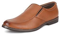 Escaro Mens Tan Formal Slip On Dress Shoes(ES1038KB_TAN_9)