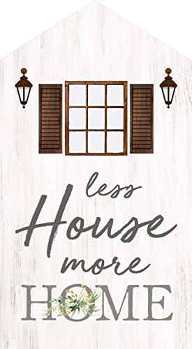 P. Graham Dunn Weniger House Mehr Home weißwaschung House 8,9x 15,2cm Kiefer Holz Block Tischplatte Schild (Dekor Hochzeit Verkauf Zum)